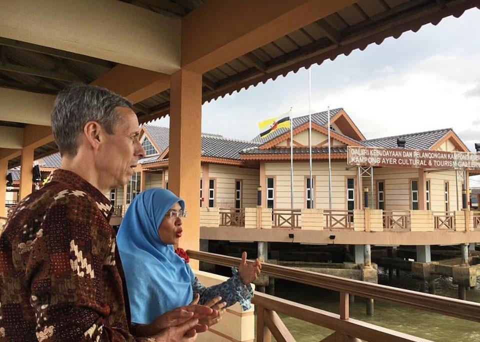 Ambassador Allen at Kampung Ayer