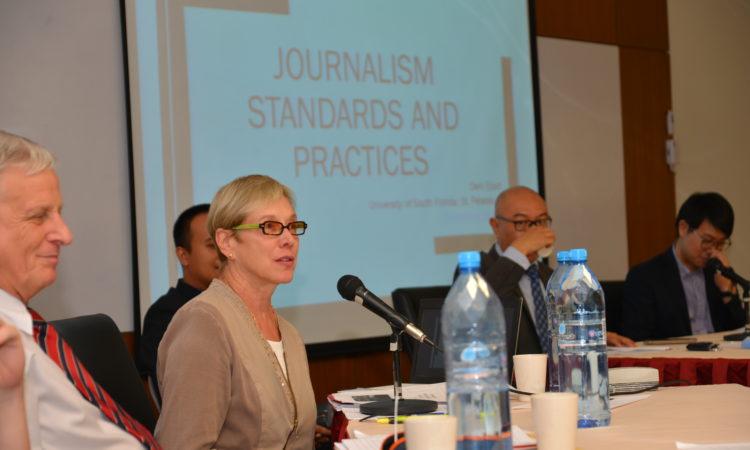 U.S. Media Speaker, Dr. Deni Elliot, at UBD
