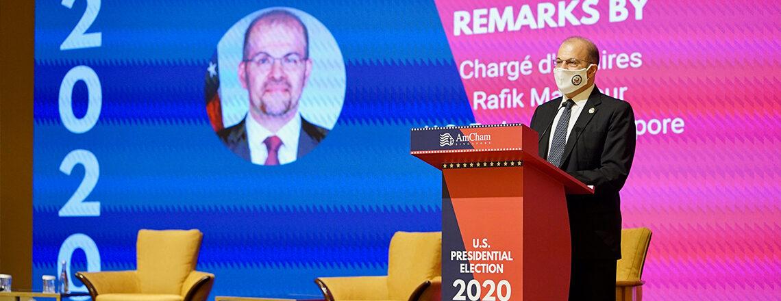 Remarks: Chargé d'Affaires Mansour at AmCham Singapore's U.S. Presidential Election 2020