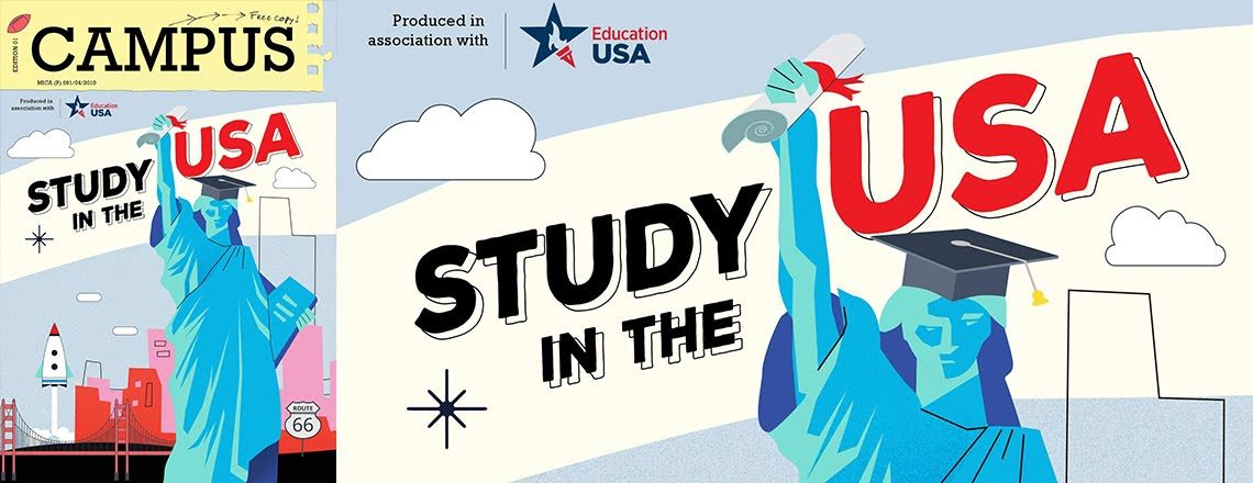 """""""Study in the USA"""" Featured in Campus Magazine"""