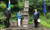 Cinqfontaines Visit (Moyse, Demmer, Ambassador ltr at Auschwitz Monument)