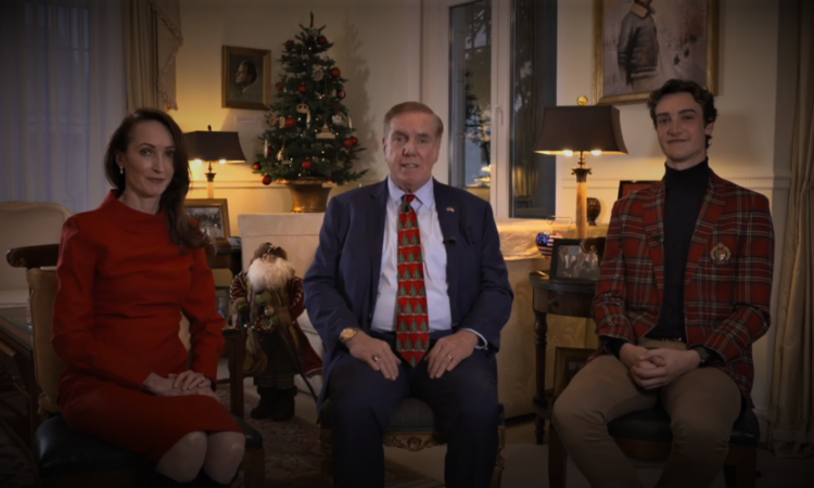 Holiday Greetings from Ambassador Evans and His Family