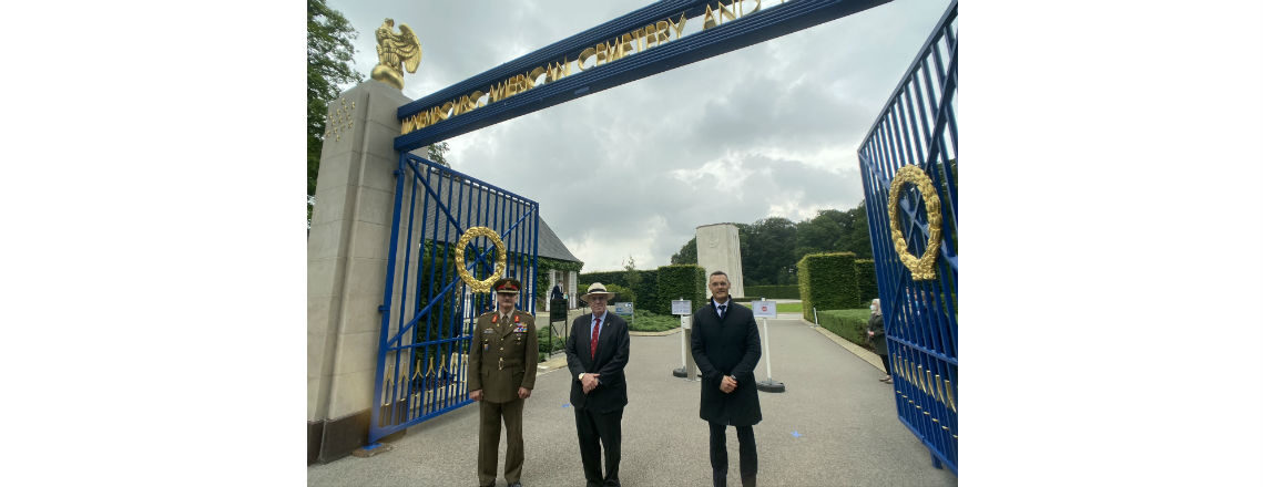 Luxembourg American Cemetery Reopened after COVID-19 Lockdown