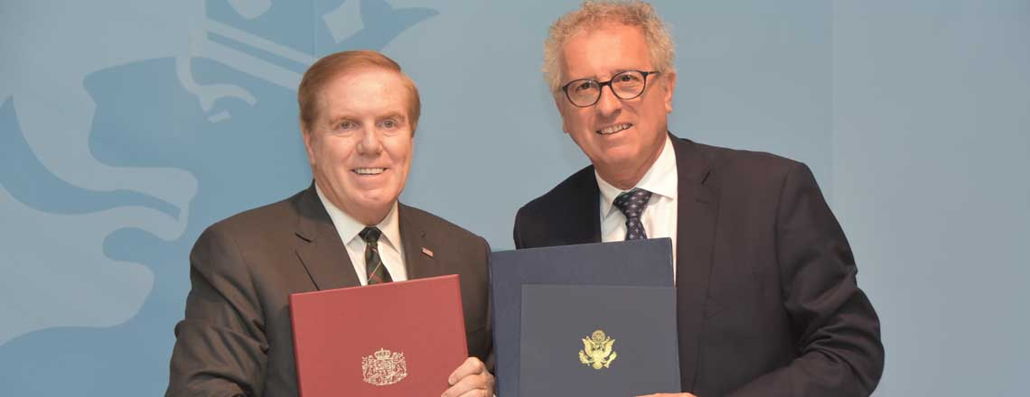 Minister Gramegna and Ambassador Evans Bring US-Luxembourg Taxation Protocol into Force