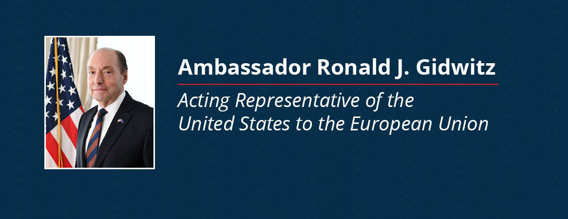Designation of Ambassador Ronald J. Gidwitz as Acting Representative of the U.S. to the EU