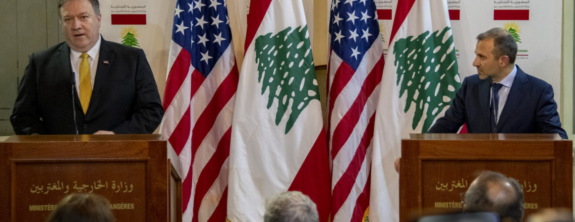 Secretary of State Michael R. Pompeo and Lebanese Foreign Minister Gebran Bassil