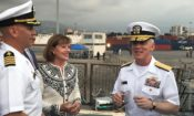 Amb Richard and Vice Admiral Malloy on Ramage