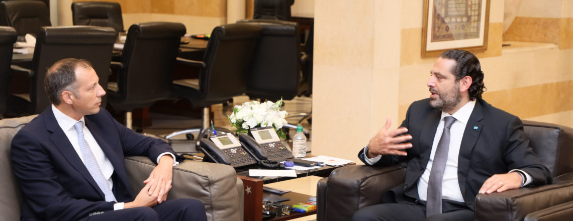 Assistant Secretary for Energy Resources Francis Fannon Meets Prime Minister Saad Hariri