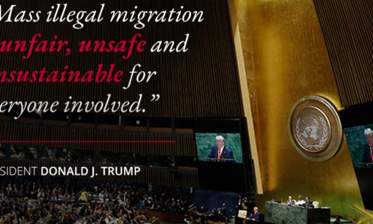 """""""La migración ilegal masiva es injusta, insegura e insostenible para todos los involucrados."""" Presidente Donald J. Trump"""