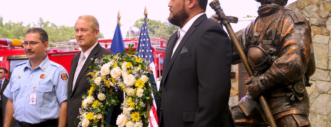 Cuerpo de Bomberos rindió tributo a rescatistas del 9/11