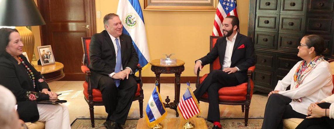 Secretario Michael Pompeo fortalece lazos de cooperación con El Salvador