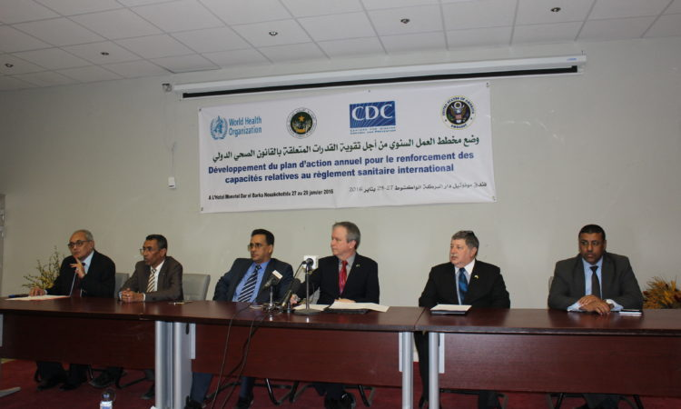 La Mauritanie abrite le lancement de l'atelier de la planification stratégique et la mise en œuvre du Règlement sanitaire international / sécurité san