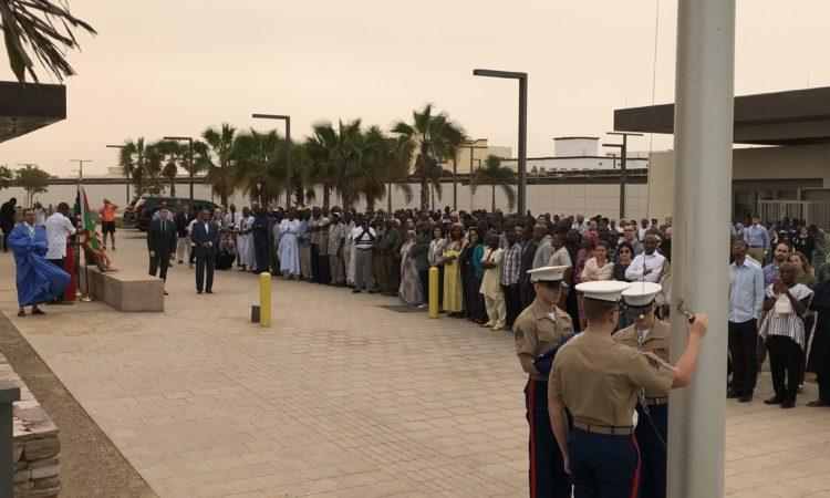 Cérémonie de Levée des Couleurs à la Nouvelle Ambassade Américaine à Nouakchott