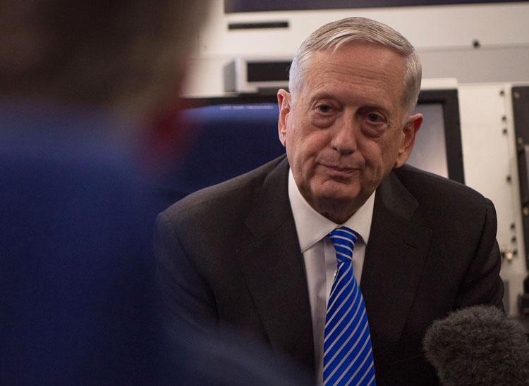 Secretary of Defense Jim Mattis (Defense Dept.)