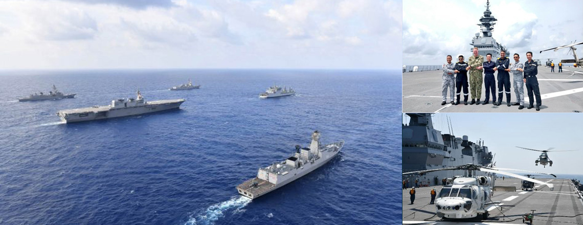 U.S., Japan, India, Philippines Sail through the South China Sea