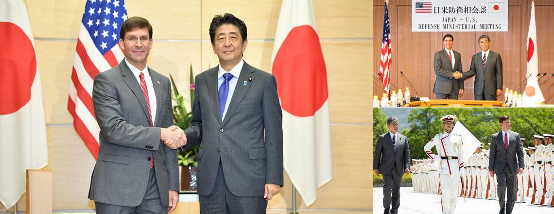 Defense Secretary Esper Meets Japanese Leaders in Tokyo