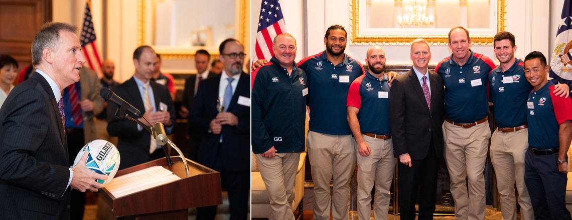 Celebrating the Rugby World Cup at the Embassy
