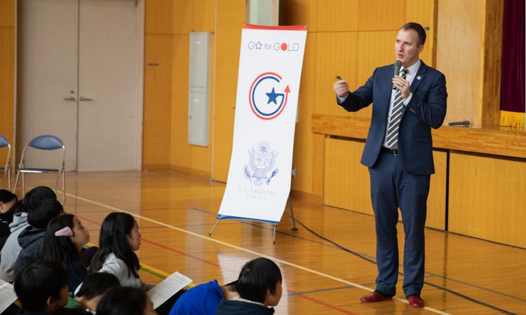 大使館報道官が外交官志望の生徒を激励 | 在日米国大使館・領事館