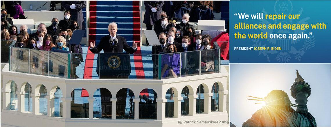 強く信頼されるパートナーとしての米国を目指すバイデン大統領