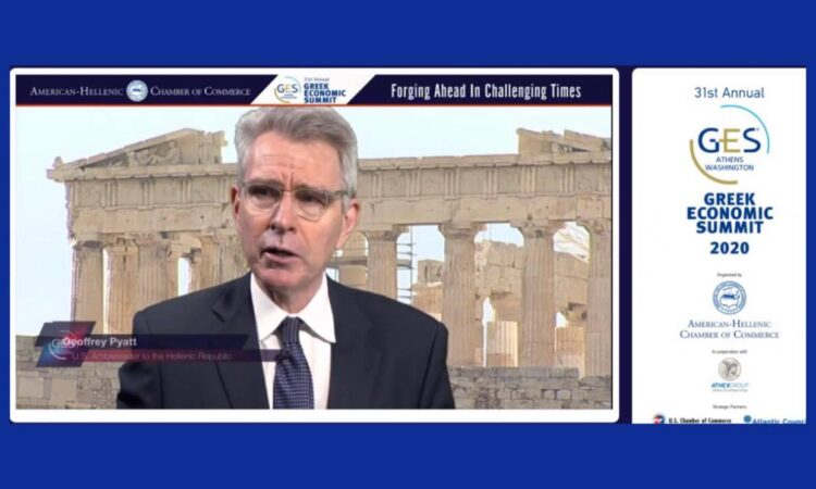 Ambassador Pyatt at GES 2020 (screen shot)