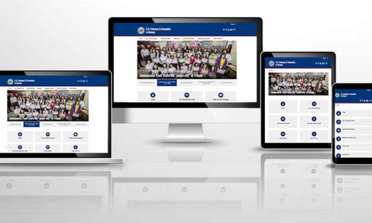 U.S. Embassy's New Website