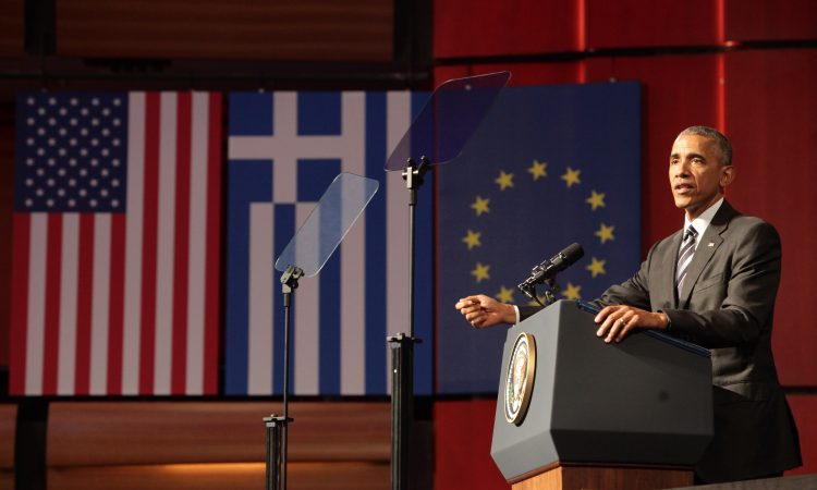 President Obama delivers remarks at SNFCC (State Department Photo)