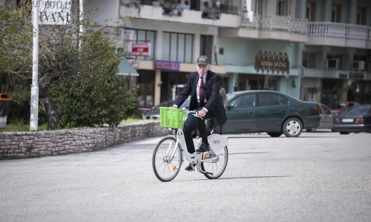Ambassador Pyatt Bikes at Divani Hotel (State Department Photo)