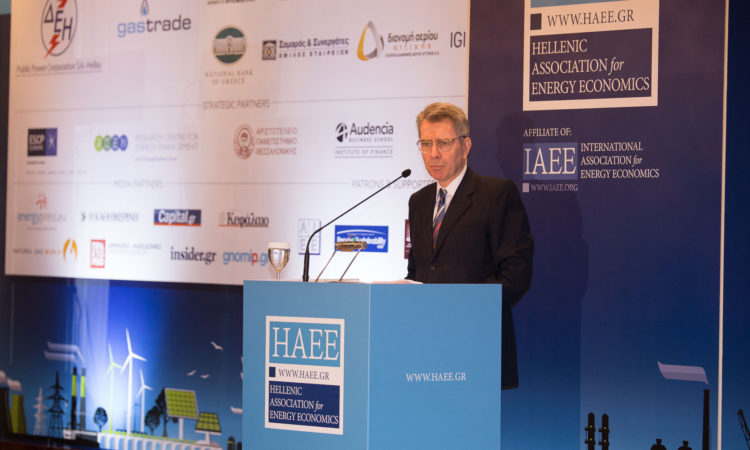 Ambassador Pyatt delivers remarks at HAEE Conference (State Department Photo)