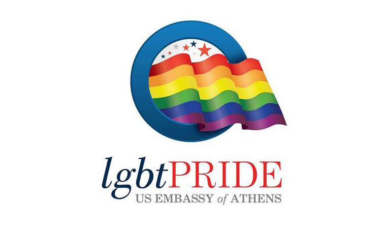 LGBT Pride Athens, U.S. Embassy Logo