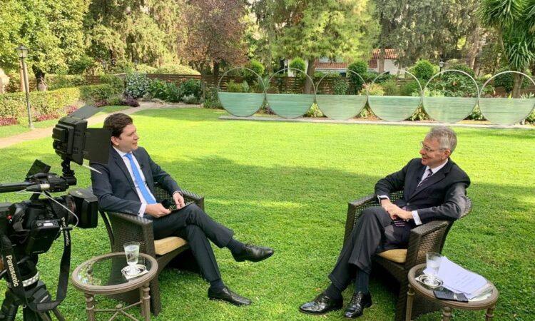 Ambassador Pyatt's Interview with SKAI (State Department Photo)