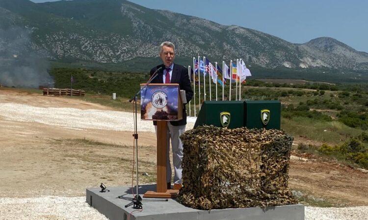 Ambassador Pyatt delivers remarks at Defender Europe DV Day in Petrochori