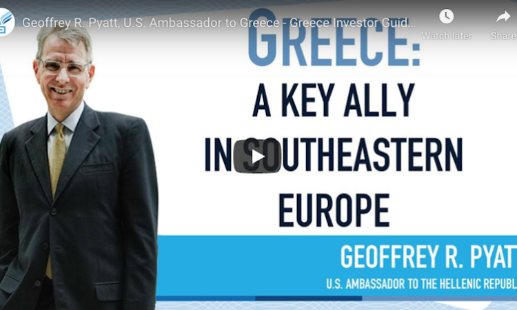 Screenshot of Video from Ambassador's Interview with Greek Investor Guide