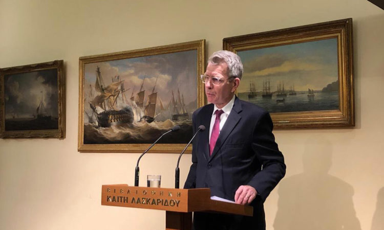 Ambassador Pyatt delivers Remarks at Prometheus Energy (State Department Photo)