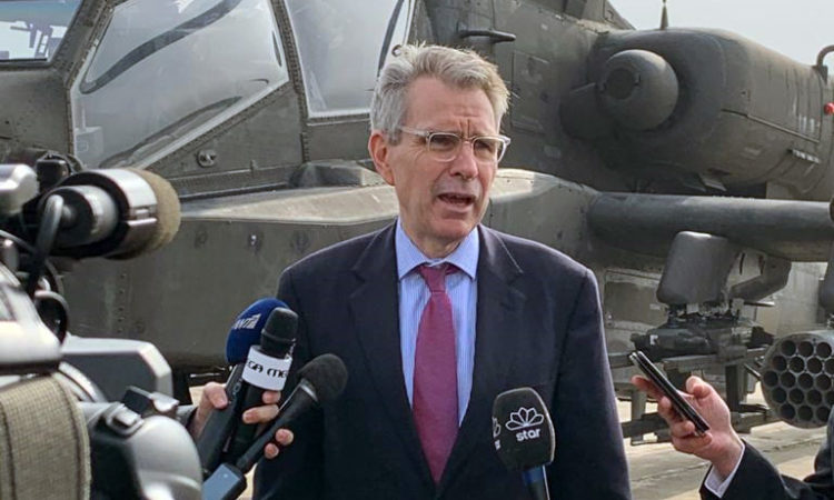 Ambassador Pyatt at Visit to Stefanovikio (State Department Photo)