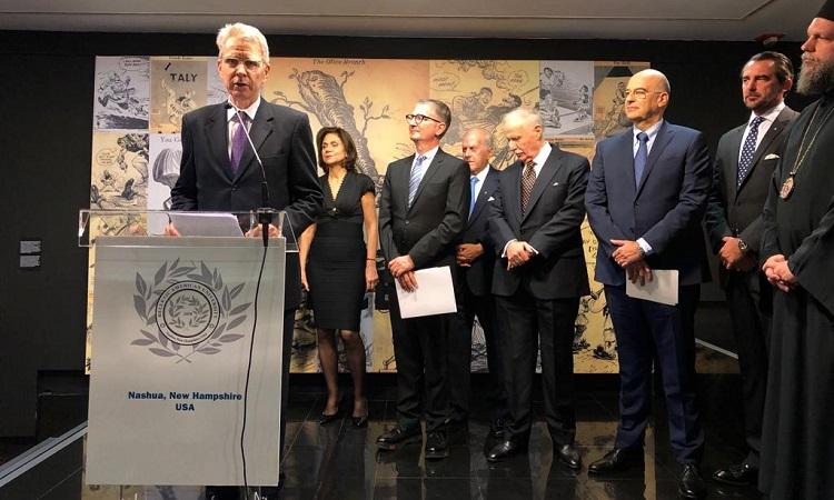 Man at podium giving speech