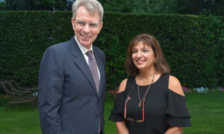 Ambassador Pyatt with Greek Chef Diane Kochilas