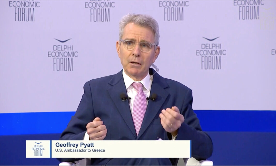 Ambassador Pyatt at Delphi Forum (Screenshot)