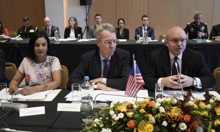 A/S Reeker w A/Singh and Ambassador Pyatt at U.S. - Greece Strategic Dialogue (Photo Courtesy SOOC)