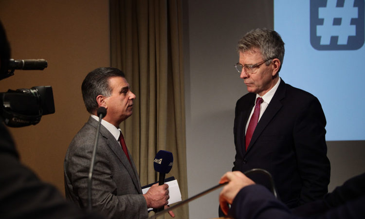 Ambassador Pyatt's Interview to Antenna TV (State Department Photo)