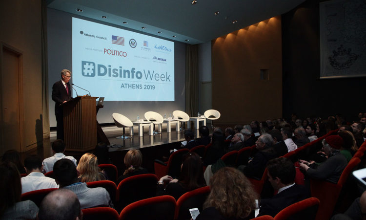 Ambassador Pyatt delivers remarks at #Disinfo Week event (State Deparment Photo)