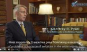Video Screenshot from Ambassador Pyatt's Interview to Greece Investor Guide, Part 1