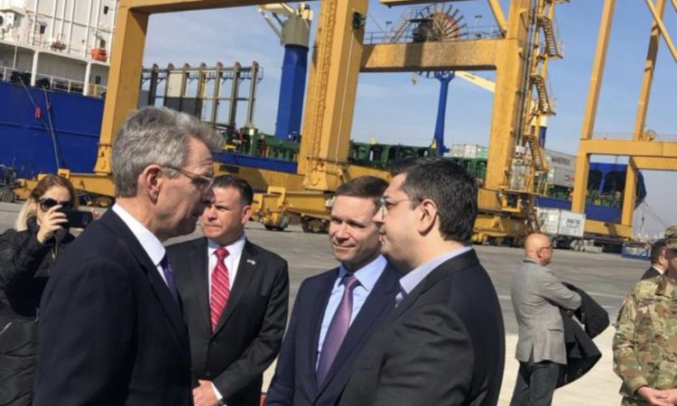 Ambassador Pyatt at Thessaloniki Port