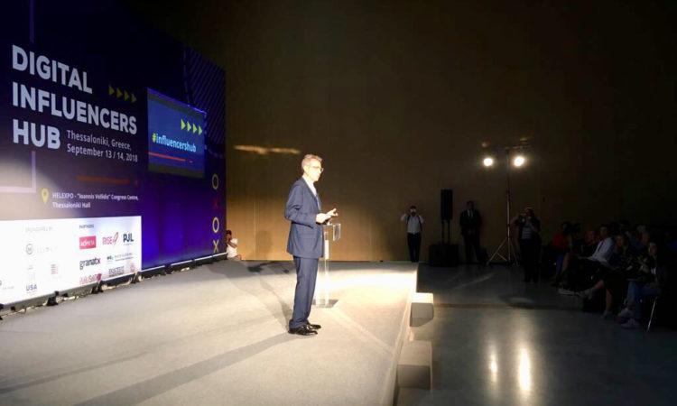 Ambassador Pyatt delivers remarks at Digital Infulencers Hub, USATIF 2018 (State Department Photo)