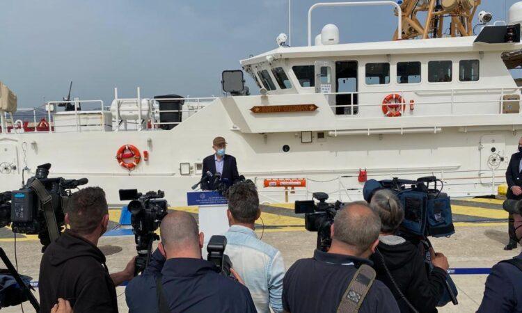 Ambassador Pyatt at Piraeus Port (State Department Photo)