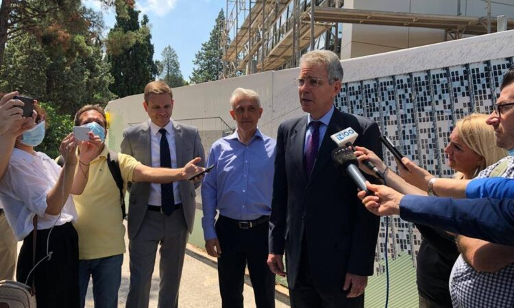 Statement by Ambassador Pyatt to Journalists at Anatolia College (State Department Photo)