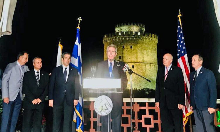 Ambassador Pyatt delivers remarks at the Hellenic Chapter: AUSA (State Department Photo)