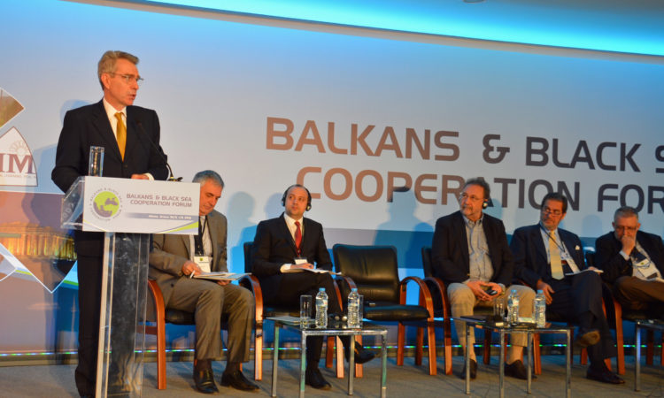Ambassador Pyatt delivers Remarks at Balkan Black Sea Forum (State Department Photo)