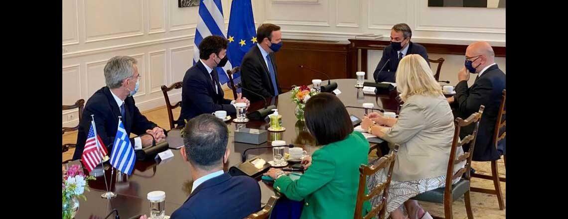 U.S. Congressional Delegation Led by Senators Chris Murphy and Jon Ossoff Visits Greece
