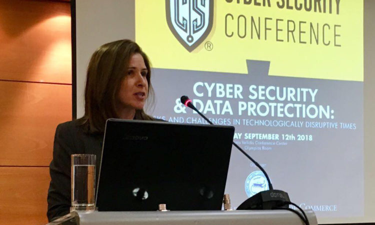 Deputy Chief of Mission Kate Byrnes delivers remarks at Cyber Security Conference at Thessaloniki International Fair 2018