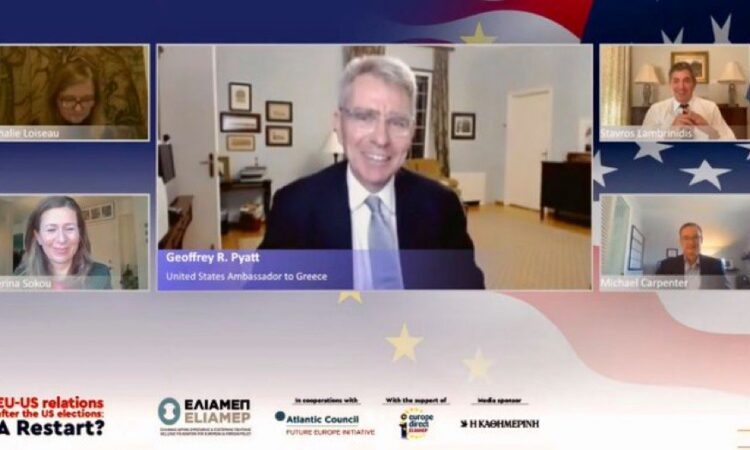 Ambassador Pyatt in Discussion at ELIAMEP